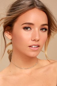 Angelic Arts Gold Rhinestone Choker Necklace