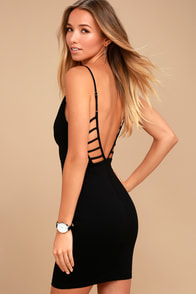 So Good Black Bodycon Dress