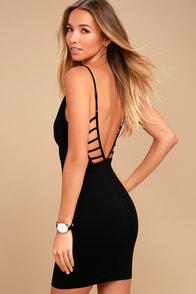 So Good Black Bodycon Dress