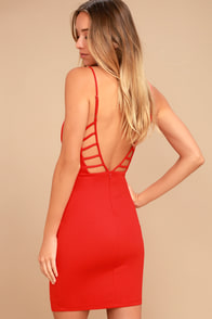 So Good Coral Red Bodycon Dress