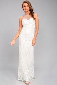 Hold On To Love White Embroidered Maxi Dress