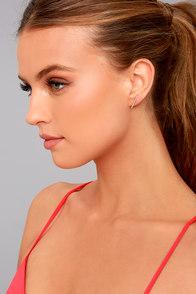 Brightest Star Gold Rhinestone Earrings