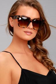 Perverse Buh Bye Paparazzi Tortoise Sunglasses