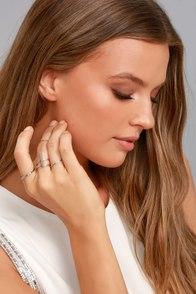 Modern Elegance Silver Ring Set