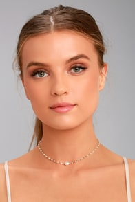 Sweet Sea Gold and Pearl Choker Necklace