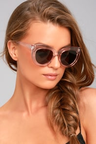 Perverse Repost Brown and Pink Cat-Eye Sunglasses