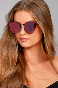 Perverse Kia Purple and Black Mirrored Sunglasses