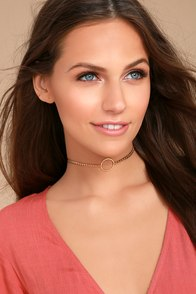 8 Other Reasons Ring of Fire Gold Choker Necklace