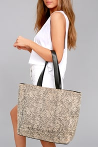 Amuse Society Carry On Beige Cheetah Print Tote