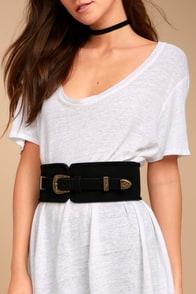 Lovestrength Natalie Black Leather Belt