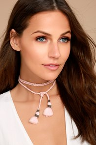 Rahi Cali Sweet Harmony Pink Wrap Necklace