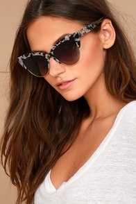 Sonix Dafni Black and White Tortoise Sunglasses