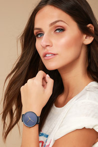 Make Good Time Navy Blue Watch