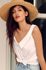 Live a Little White Off-the-Shoulder Top