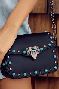 Taos Black Studded Purse