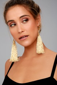 8 Other Reasons Luisa Gold Tassel Earrings