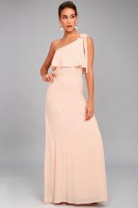 Purpose Blush One-Shoulder Maxi Dress