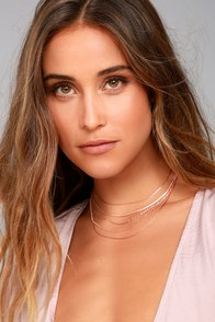8 Other Reasons Lolo Rose Gold Layered Choker