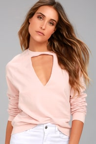 Project Social T Bre Blush Pink Sweatshirt