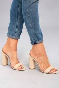 Steve Madden Cheers Tan Suede Leather High Heel Sandals