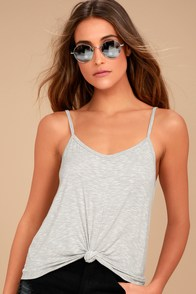 Charvi Heather Grey Tank Top