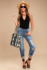 Billabong Hey Boy Medium Wash Distressed Boyfriend Jeans