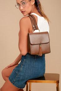 Graduate Brown Leather Mini Backpack