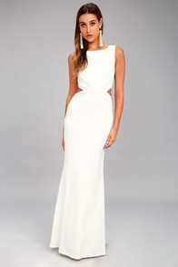 Trista White Cutout Maxi Dress