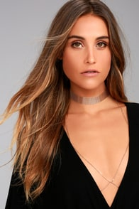 Hold Me Gold Layered Choker Necklace