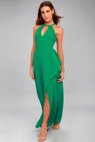I Spy Green Maxi Dress
