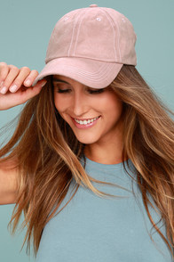 Billabong Lux Club Blush Suede Baseball Cap