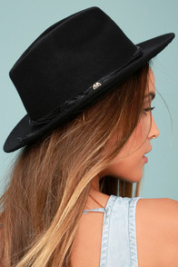 Billabong Eastwood Black Wool Fedora Hat