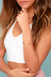 Star Crossed Rose Gold Bracelet