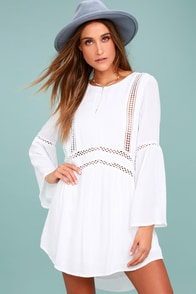Amuse Society Kensington White Lace Dress