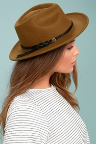Billabong Eastwood Brown Wool Fedora Hat