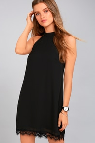 Bywater Black Lace Swing Dress