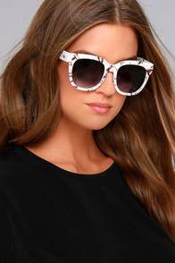 Perverse Dawn Patrol White Marbled Sunglasses