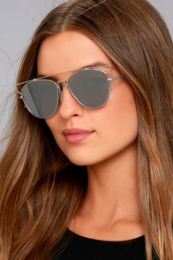 Perverse Nat and Liv Silver Mirrored Sunglasses