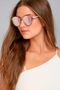 Perverse Syl Pink Mirrored Sunglasses