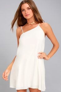 Nights in Paradise White Swing Dress