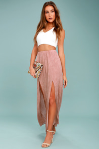 Guide Me Home Blush Pink Maxi Skirt