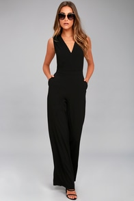 Loyalty Black Sleeveless Wide-Leg Jumpsuit