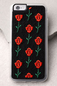 Zero Gravity Scarlet Black Embroidered iPhone 6 and 6s Case