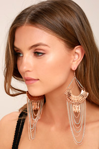 Make it Last Silver and Rose Gold Earrings