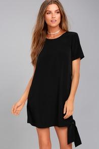 Shifty Business Black Shift Dress