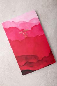 Denik Goal Digger Pink Print Layflat Lined Notebook