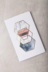 Denik Hexes Gold Print Layflat Lined Notebook