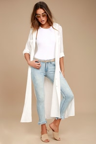 EVIDNT Hermosa Light Wash Frayed Skinny Jeans
