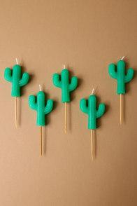 Sunnylife Cactus Green Cake Candles