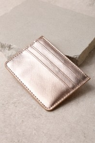 Charge It Rose Gold Card Case